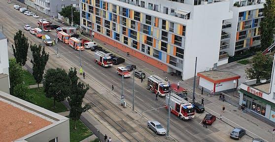 Die Feuerwehr und Rettung waren vor Ort.