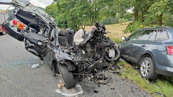 Tödlicher Unfall am 4. August 2021 in Eschenburg-Simmersbach, Hessen.