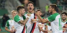 3:0 gegen Famagusta! Rapid auf dem Weg ins Play-off