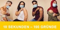 10 Sekunden, 100 Gründe: Initiative wirbt fürs Impfen