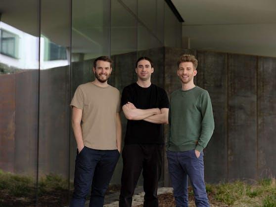 Das refurbed-Gründertrio (v.l.): Peter Windischhofer, Jürgen Riedl und Kilian Kaminski