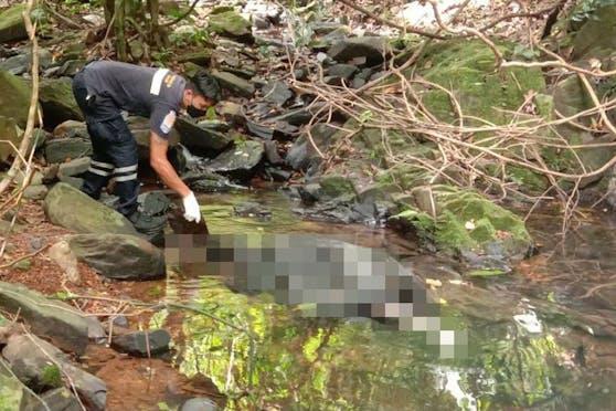 So wurde die Leiche nahe dem Wasserfall gefunden.