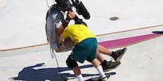 Olympia-Crash! Skateboard-Star fährt Kameramann nieder