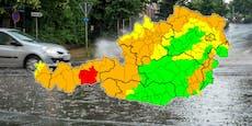 Große Regenmengen sorgen erneut für Wetter-Warnungen