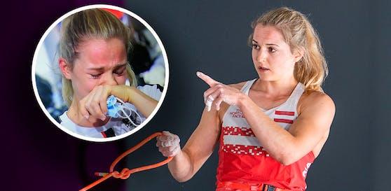 Jessica Pilz weinte um die Medaille.