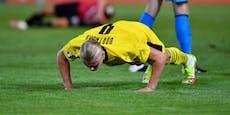 Dreierpack im DFB-Pokal! Haaland pumpt sich am Feld auf