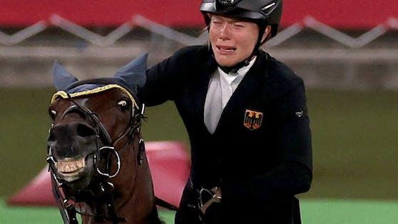 Annika Schleu mit dem Pferd Saint Boy.