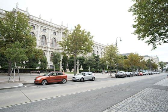 In der Babenbergerstraße in der Wiener Innenstadt war kein Platz für den Impfbus. Er musste auf den Europaplatz beim Westbahnhof ausweichen.