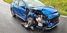 PKW donnerte auf S6-Rampe gegen Leitschiene