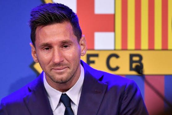 Lionel Messi war beim Abschied in Tränen aufgelöst.