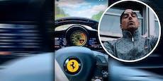 RAF postet Video während 200km/h-Fahrt aus Ferrari