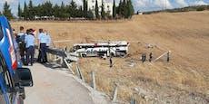 Drama in der Türkei – 14 Tote bei Reisebus-Unfall