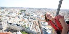 Kranfahrt auf 110 Meter! Heute lag mir Wien zu Füßen