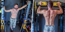 Solo-Hirscher zeigt seine Muskeln und Tattoos