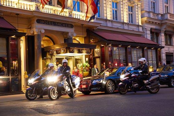 Das weltberühmte Hotel Sacher in Wien