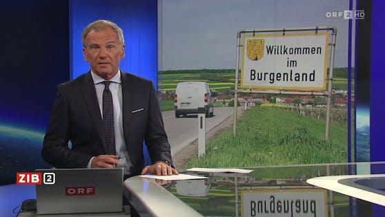"""ORF-Moderator Armin Wolf am Dienstag in der """"Zeit im Bild 2"""""""