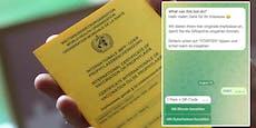Telegram-Bot bietet gefälschte Impfpässe mit QR-Code an