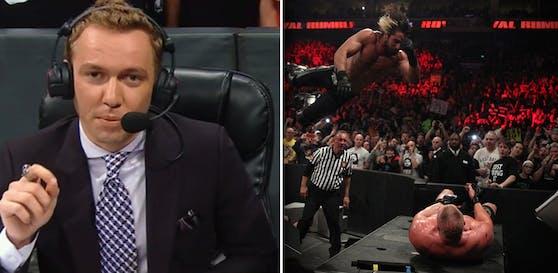 Calvin Knie kommentiert seit 2017 in der WWE