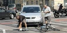 Radfahrer auf Wiener Kreuzung von Autolenker erfasst