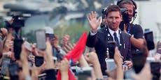 Hype! So wird Messi von den Fans in Paris gefeiert