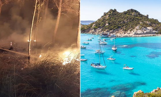 In Sardinien wurden die Buschbrände gelegt, weshalb nun strenge Kontrollen im freien Land durchgeführt werden.