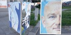 Linke Studentin zerstört FPÖ-Plakat, wird erwischt