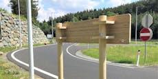 Bambus-Importe für Öko-Verkehrsschilder