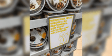 Supermarkt verkauft Lebkuchen bei 30°C im Hochsommer