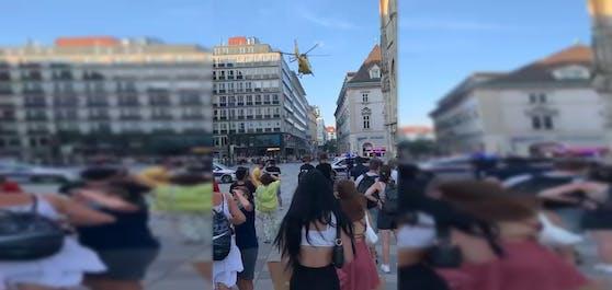Rettungseinsatz am Stephansplatz in Wien