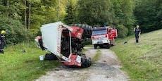 Landwirt (28) stürzt mit Traktor 20 Meter tief