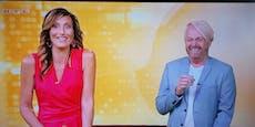 Ross verpasst Einsatz: Lachanfall bei TV-Moderatorin