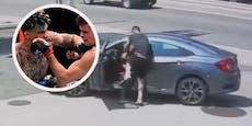 UFC-Fighter prügelt Dieb aus fahrendem Auto