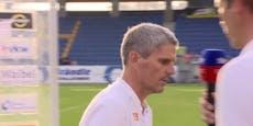 Kühbauer bricht TV-Interview fuchsteufelswild ab