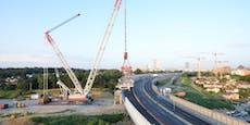 Erfolgreicher Abflug für Brückenteil auf A23