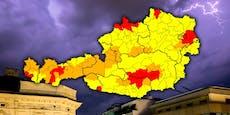 Rote Unwetter-Warnung für mehrere Bundesländer