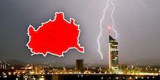 Unwetter! Warnstufe Rot für ganz Wien ausgegeben