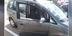 Angeschnalltes Kleinkind in Hitze-Auto gefangen