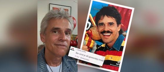 Thomas Brezina (heute (l.) und damals (r.) begegnet Hähme auf Tiktok mit Humor.