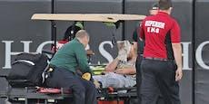Baseball-Star bricht nach Treffer im Gesicht zusammen