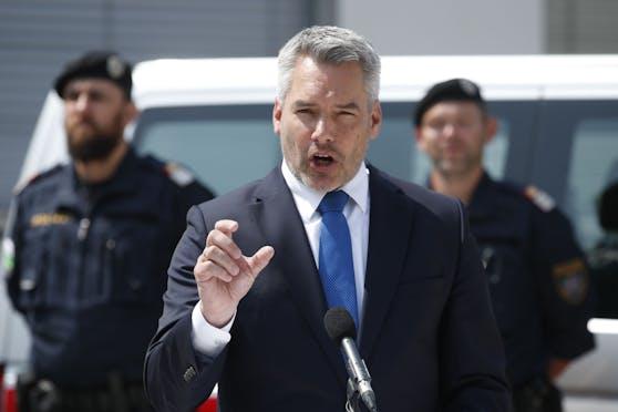 Innenminister Karl Nehammer (ÖVP) lehnt die Aufnahme von afghanischen Flüchtlingen ab. (Bild vom 23.07.2021)