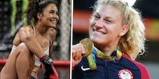 Olympiasiegerin gegen Model – ihr Kampf im Käfig