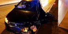 Auto-Crash in Tiroler Tunnel sorgt für Totalsperre
