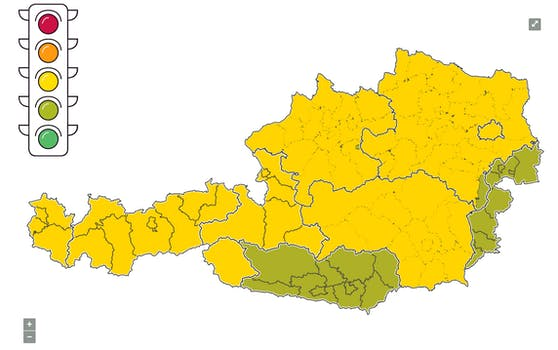 Die Corona-Ampel per 19. August 2021