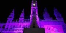 Darum erstrahlt das Wiener Rathaus heute in lila