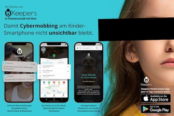 Neu bei Drei: Keepers startet Kinder-App zum Schutz vor Mobbing in sozialen Netzen.