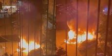 Feuer, Explosionen – Autos brennen in Favoriten