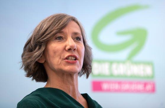 Archivbild: Birgit Hebein während Pressekonferenz im Rathaus in Wien am 15. Oktober 2020.