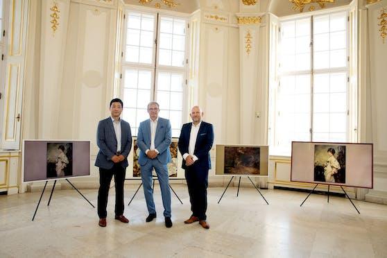 The Frame TV bietet nun den Rahmen für 17 Werke des Belvedere.