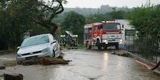 Schwere Unwetter – Feuerwehren im Dauereinsatz