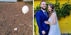 250 km! Hochzeits-Ballon aus NÖ kam bis nach Ungarn